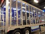Lexan panels in the right-side wall of Ancra's display trailer