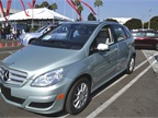 Photos by Joanne Tucker<br />The Mercedes B-Class hydrogen fuel cell vehicle.