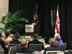 Secretary Chao addressing attendees of AASHTO meeting in Washington on