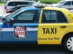 """Choose Your Ride"" is literally a publicity vehicle. Wittily marked up by WisDOT as half State Patrol cruiser and half taxi, it's an award-winning public-service ad warning against the danger and expense of drunk driving. Photo: Wisconsin DOT"