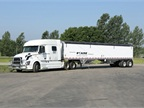 Foltz runs 125 Volvo VNL sleeper-cab tractors and 400 Wilson 41-foot