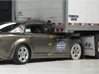 When the Insurance Institute for Highway Safety tested underride guards in 2010, one guard failed. That trailer manufacturer has since redesigned its guards, and it worked properly in the IIHS' latest round of tests.<br />