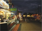 Food concessions on the Delaware County Fair s midway are all on
