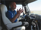 Freightliner's Inspiration Truck uses lane markings to keep the truck in the lane.