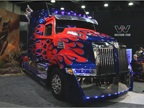 Optimus Prime offered a sneak peak at the newest Western Star. Photo: Evan Lockridge