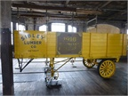 An early Fruehauf trailer is preserved in Detroit, where the man