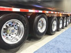 Flatbeds, among the vocational trailers newly regulated for fuel economy and emissions by the federal Phase 2 rules, will need tire pressure management devices and low rolling-resistance tires to comply. Photo: Tom Berg