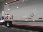 Wabash National displayed a 33-foot trailer at an industry meeting last year. Labels showed the extra 5 feet of cargo space vs. current 28-footers. Photo: Tom Berg