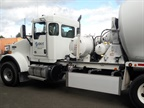 Seattle DOT s concrete mixer truck has a Walker Blocker side guard to