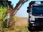 A new self-steering system developed by Volvo is being tested in South American sugarcane fields to see if it can reduce crop spoilage and increase yields. Photo: Volvo