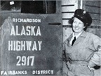 Rusty Dow, a Corps truck driver, traversed the Alaska Highway during
