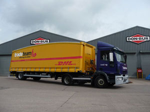 British beverage distributor Tradeteam placed its second order for 60 Don-Bur aerodynamic Teardrop trailers.