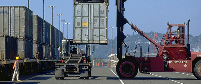 The first 100 trucks scrapped at the Port of Seattle will prevent the emission of nearly 1.5 tons of fine particulates each year. (Photo courtesy of the Port of Seattle)