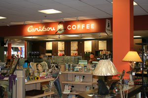 The new Caribou Coffee is a full-service specialty coffee shop featuring a variety of made-to-order coffee drinks, iced coffee, cappuccino, blended cooler and smoothie drinks as well as teas.