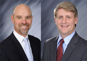 Ryder promoted Robert E. Sanchez (left) to president and chief operating officer and Dennis C. Cooke to president of global fleet management solutions.