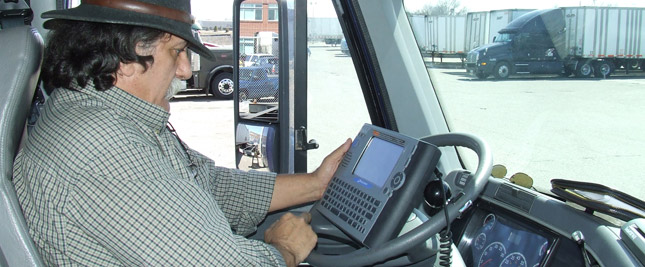The new EOBR rule, which will go into effect June 1, 2012, says carriers that violate hours of service rules 10 percent of the time, based on single compliance review, must use electronic onboard recorders to track driver hours. (Photo by Kristin Ries)