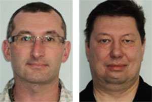 Laurent Pennacchio (left) and Olegas Milevskis (right), both of Regina, Saskatchewan, were recently named Highway Angels.