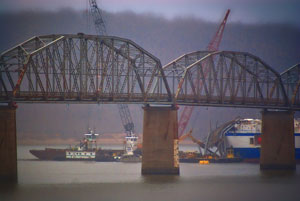 Kentucky will receive $9 million to restore service following the closing of the Eggners Ferry Bridge after a cargo vessel struck it in January. (Photo courtesy of Wikipedia)