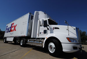 Two LNG tractors will test the new Cummins Westport ISX 12 G in FedEx Freight's Dallas operations.
