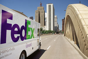 FedEx Ground revenue beat analysts' expectations, with record operating margins of 20 percent.