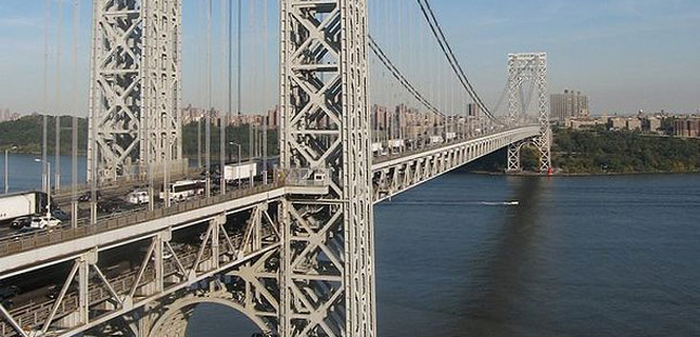 The George Washington Bridge is one of several that has seen recent toll hikes.