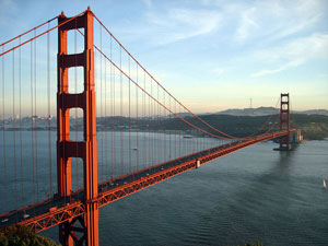 Due to toll increases for multi-axle vehicles in the Bay Area, the fully indexed toll rate on the Golden Gate Bridge will be $6 times the number of axles, with a $5-per-axle rate for FasTrak customers. (Photo courtesy of Wikipedia)