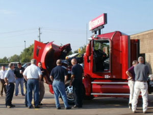 MHC is featuring a 2013 CNG-powered Kenworth T660 at eight locations across the country.