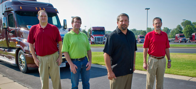 These are the members of Maverick Transportation's IT team that helped the company in the commitment they made across the organization to the concept of aggregating all of the data they had to help support their corporate objectives.