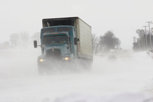 The east could experience wind gusts as high as 70 mph and snowfall rates of one to two feet in some areas. (Photo by Michelin)