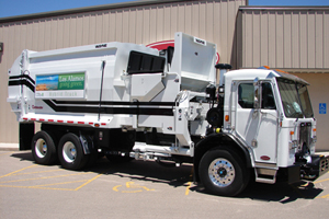 The HLA system on this refuse vehicle captures the trucks' kinetic energy during braking to assist in launching and accelerating the vehicle.