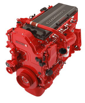 Red engines will reappear under certain Navistar hoods, beginning in January 2013.