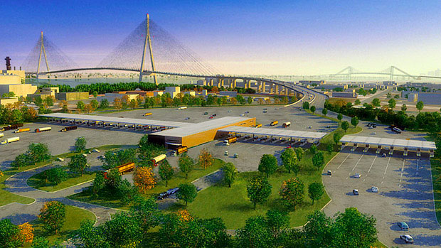 A rendering of the new bridge.
