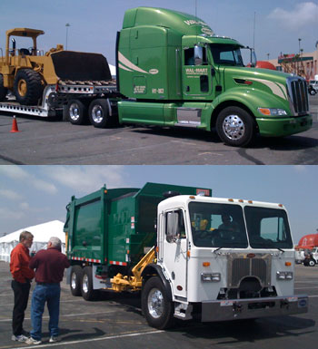 The Model 320 with Hydraulic Launch Assist and a Model 386 Hybrid that's still in development were two highlights of the Peterbilt/Rush Truck Centers Go Green event.