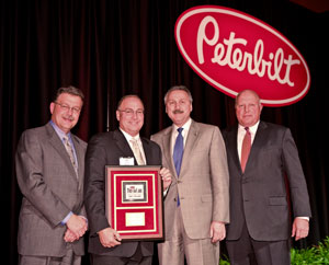 Peterbilt of Richmond in Richmond, Va., receives the Peterbilt TruckCare Dealer of the Year award for superior aftermarket service.