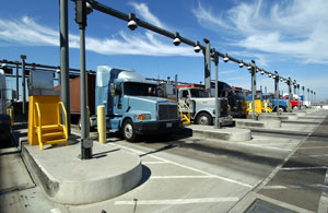 Trucks at the Port of Los Angeles