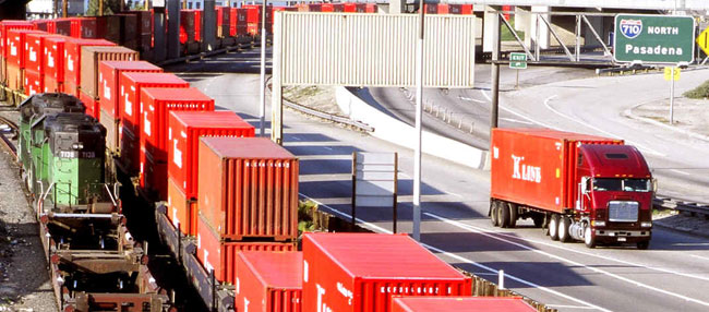 Intermodal volume for the third quarter was up more than 20 percent from last year. (Photo courtesy Port of Long Beach)