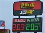 Diesel Prices Near $2.40 Per Gallon