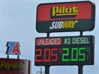 Average Diesel Prices Fall 1 Cent