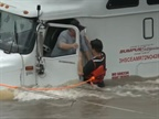 Highway Angel of the Year  Rescued Driver Stranded in Flood