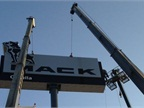 Mack Promotes New Dealership with Texas-size Signage