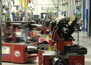 SAF-Holland assembly on automated guided vehicles.