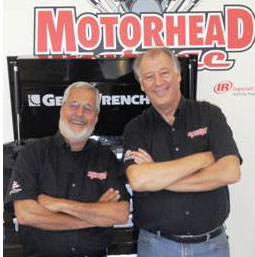 Sam Memmolo (left) and Dave Bowman host Motorhead Garage, which will feature Inland Truck Parts in an upcoming episode.