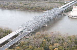 The Blanchette Bridge on I-70 near St. Louis will be under construction during several summer weekends and for 12 months starting in November. MODOT suggests commercial vehicle drivers take a detour that will add five miles but cut down travel time.