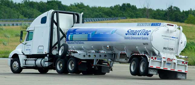 Major suppliers of stability control systems, Bendix Commercial Vehicle Systems and Meritor WABCO Vehicle Control Systems (seen above), estimate that perhaps as many as 25% of new trucks have stability controls.