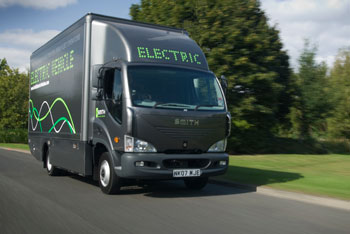 The Newton is one of the all-electric commercial vehicles produced by Smith.