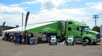 Bridgestone plans 24 stops for its Ecopia Roadshow Tour.