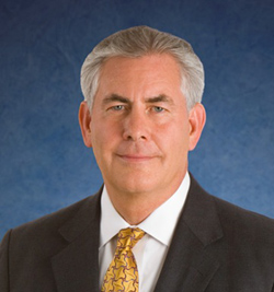 Rex W. Tillerson, chairman and chief executive officer of Exxon Mobil Corporation