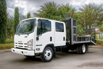 Isuzu's NPR gasoline powered cab and chassis in crew-cab configuration