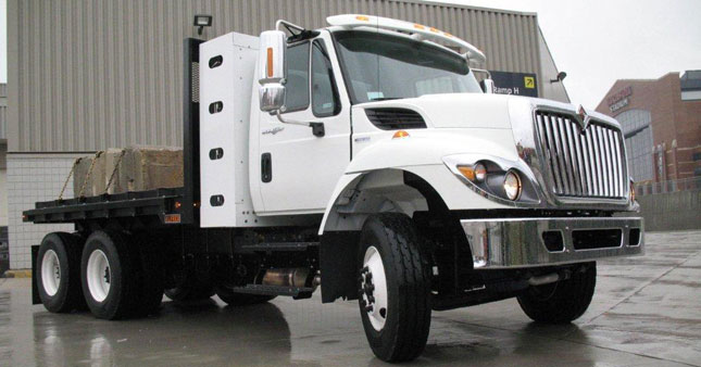 International WorkStar with MaxxForce DT gas engine and behind-cab fuel bottles will be part of a program by Navistar and Clean Fuels. Photo by Tom Berg,