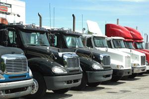 Net orders for Class 8 trucks rose slightly in December. (Photo by Jim Park)